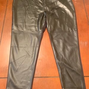 Faux leather pants.